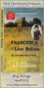 Francesca of Lost Nation by Lucinda Sue Crosby – Spotlight/Giveaway