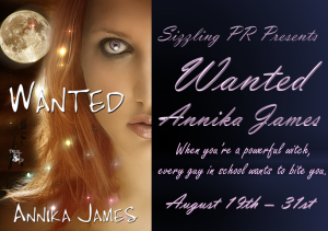 Review of Wanted by Annika James –Giveaway