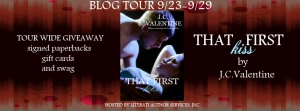 Review of J.C. Valentine's That First Kiss (Night Calls #2) w/giveaway