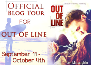 Out of Line by Jen McLaughlin and her Top Ten Females on TV w/giveaway